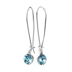 Earrings Drop Aqua Marine